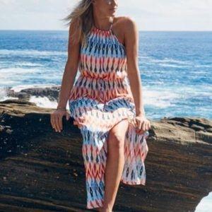 Athleta Sunset Halter Maxi Dress